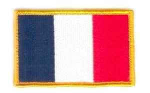 Écusson brodé Flag Patch France - 8 x 6 cm