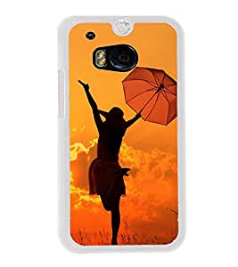 Girl with Umbrella 2D Hard Polycarbonate Designer Back Case Cover for HTC One M8 :: HTC M8 :: HTC One M8 Eye :: HTC One M8 Dual Sim :: HTC One M8s