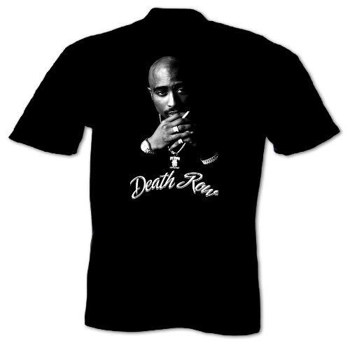 Bang Tidy Clothing Men'S Tupac Shakur 2 Pac Death Row Hip Hop Music T-Shirt X-Large Black