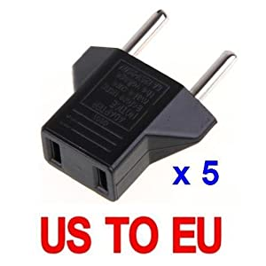 LE 5X USA US to EU Euro Plug Converter Travel Charger Adapter AC Power Plug Adapter