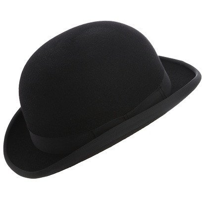 Traditional Wool Felt Bowler hat (57cm, Black)