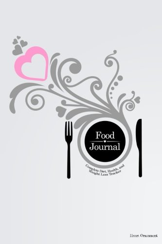 Food Journal: Complete Diet, Health, and Weight Loss Tracker - Heart Ornament