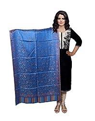 IndistarFashion Women Blue Viscose Shawl
