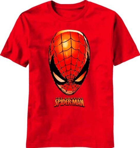 Spider-Man A Head Of Marvel Youth T-Shirt Red