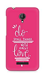 AMEZ do great things with love Back Cover For Micromax Canvas Spark Q380