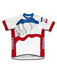 Crimea Flag Short Sleeve Cycling Jersey for Women