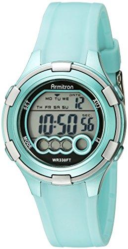 Armitron Sport Women's 45/7053LTG Digital Light Green Resin Strap Watch