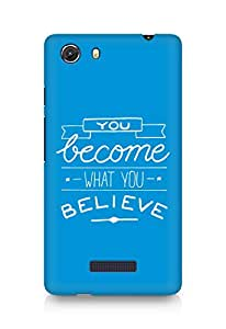 AMEZ you become what you believe Back Cover For Micromax Unite 3