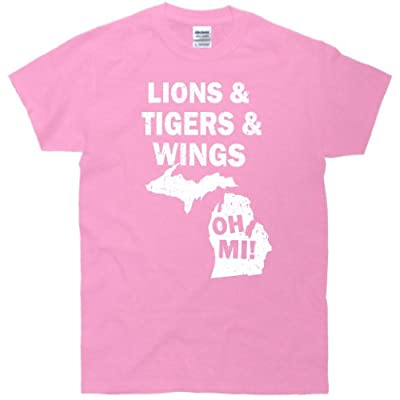 Lions Tigers Wings Oh MI Vintage T-Shirt