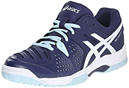 ASICS Women\'s GEL-Dedicate 4 Tennis Shoe, Indigo Blue/White/Crystal Blue, 7.5 M US