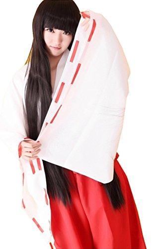 [CNS Inuyasha Kikyo Style Cosplay Costume [ L Size for Women ] Japanese Anime] (Miroku Cosplay Costume)