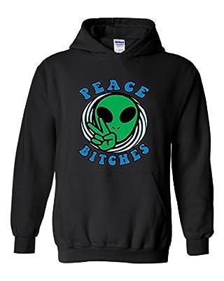 Artix Alien Peace Sign B.tches Unisex Hoodie Sweatshirt