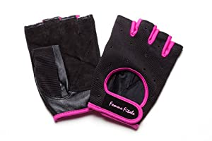 Femme Fitale Fitness Black Swarovski weight lifting/exercise/workout/fitness gloves