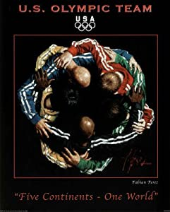 (16x20) Fabian Perez Five Continents One World 2010 U.S. Olympic Team Official Sports Poster Print
