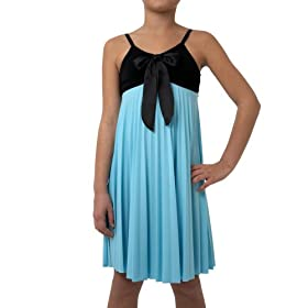 Amy Byer Girls 7-16 Bow Front Pleated Baby Doll Dress
