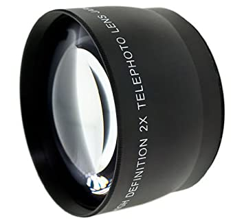Optics 2.0x High Definition Telephoto Conversion Lens for Fujifilm FinePix S8600 Includes Lens Adapter Ring