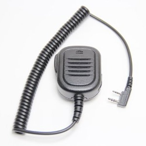 Embest Waterproof Rainproof Heavy Duty Lapel Shoulder Remote Speaker Mic Microphone Ptt Compatible For 2 Pin Kenwood Baofeng Puxing Wouxun Two Way Radio