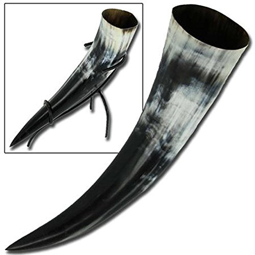 Medieval Viking Norwegian Drinking Horn & Stand (Norwegian Beer compare prices)
