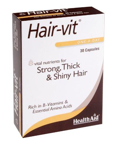 Health Aid Hair-vit (B Vitamins, Essential Amino Acids ++) - Blister Pack 30 Capsules
