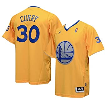 Golden State Warriors Stephen Curry Short Sleeve Christmas Day Adidas Swingman... by adidas