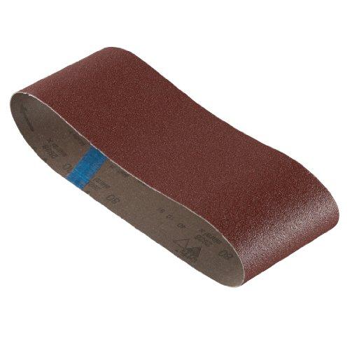 Bosch SB6R080 4-Inch X 24-Inch Sanding Belt, Red, 80 Grit, 3-Pack