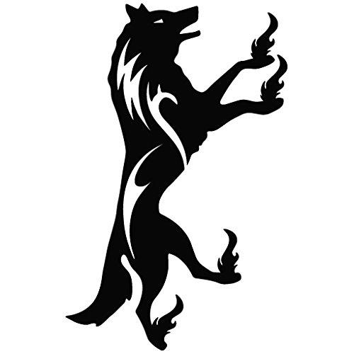 Wolf Kick Ku Fu - Animal Decal Vinyl Removable Decorative Sticker for Wall, Car, Ipad, Macbook, Laptop, Bike, Helmet, Small Appliances, Music Instruments, Motorcycle, Suitcase
