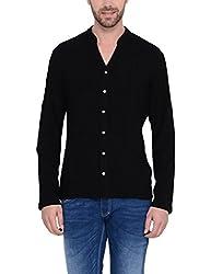 IDENTITI Men's Black Casual Shirt