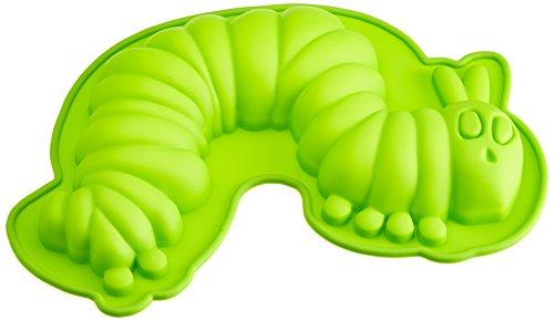 geda-labels-gmbh-20555-molde-para-tarta-de-silicona-con-forma-de-oruga-color-verde