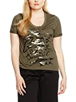 Fiorella Rubino Camiseta Manga Corta (Verde Militar)