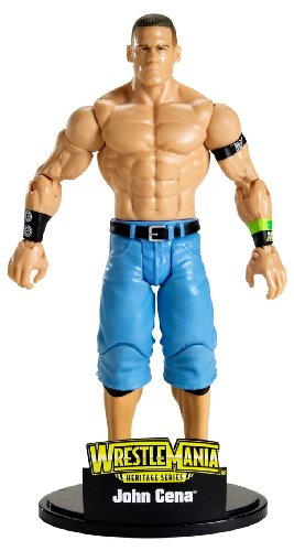 Buy Low Price Mattel WWE Wrestlemania Heritage Series John Cena Figure (B002YQU0DK)