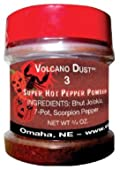 Volcano Dust 3 - Smoked Bhut Jolokia (Ghost), 7 Pot and Scorpion Pepper Powder - Super Hot