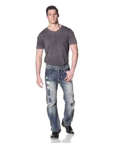 Desigual Men's Relaxed Fit Jeans with Distressing