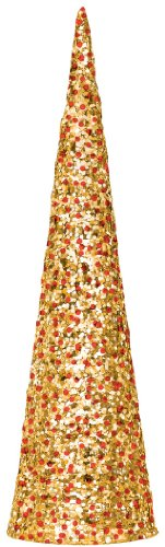 Amscan-Festive-Christmas-Holiday-Party-Cone-Table-Centerpiece-Decoration-Gold-15