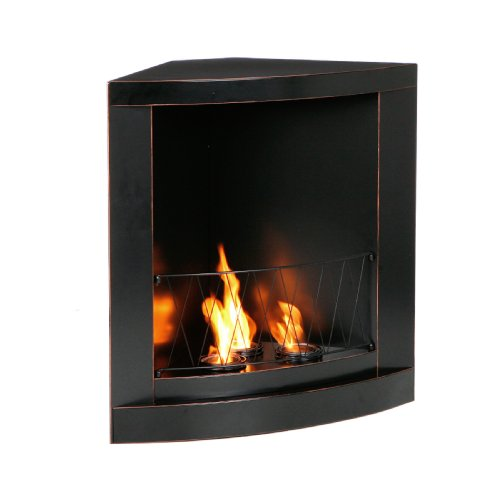 Black Corner Fireplace shopping sei trim gel corner
