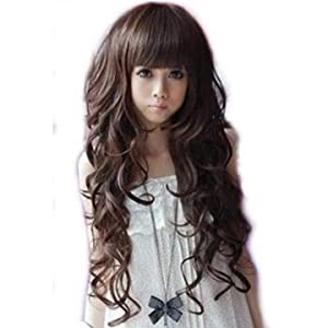 Cool2day Long Dark Brown Sexy Wave Wig+wig Cap (Model:jf010013)