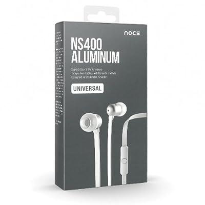 Nocs Aluminum Headphones with Remote and Mic - White