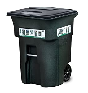 Toter 025596 R1GRS Residential Heavy Duty 2 Wheeled Trash Can Wit