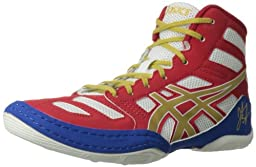 ASICS Kids Unisex JB Elite GS (Little Kid/Big Kid) True Red/Olympic Gold/White Sneaker 4 Big Kid M