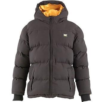 Caterpillar Boys Puffa Jacket Kids Coat Junior Padded Winter Jacket Black, Navy, True Blue Boyswear Sizes 4/5, 6/7, 8/9, 10/12. 14/16, New (4/5 Years, Black)