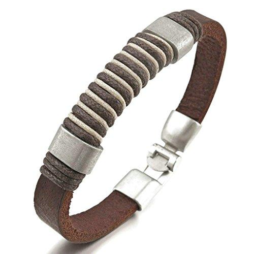 adisaer-acier-inoxydable-gourmette-hommes-bracelet-charms-biker-vintage-argent-brun