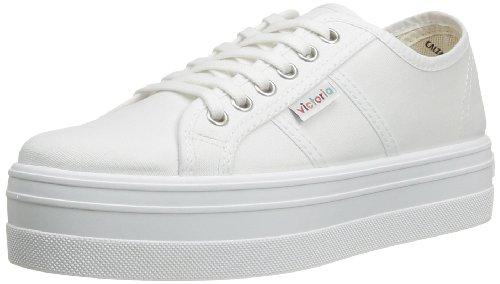 Victoria  Blucher Lona Plataforma,  Sneaker donna Bianco Blanc (Blanco) 40