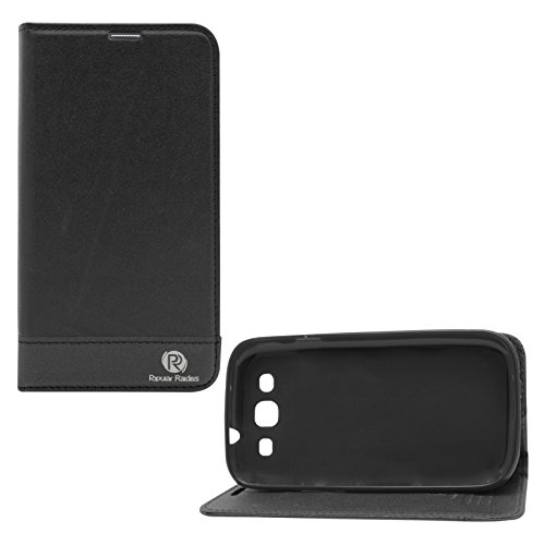 Popular Raiders Magnetic Wallet Flip Folio Stand Book Cover Case For Samsung Galaxy S3 Neo i9301 / S3 i9300 (Black)