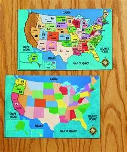US Magnetic Puzzle Map
