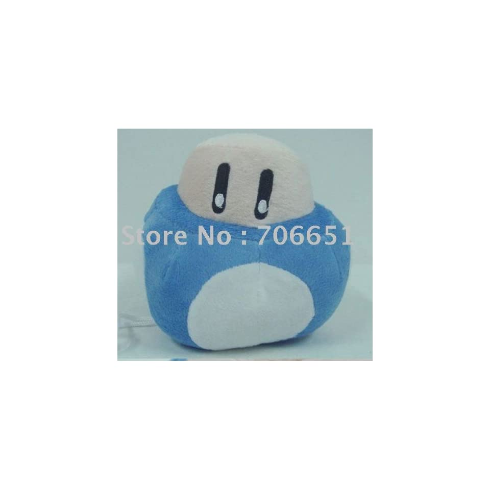 whole 5 super mario bros mushroom plush 100pcs/lot soft plush doll stuffed toy with key chain mix