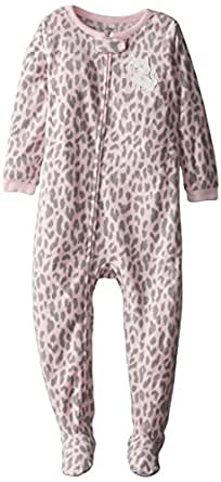Carter's Baby Girls' L/S Footed Blanket Sleeper - Leopard Kitty - 24 Months