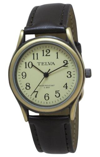 [クレファー]CREPHA 紳士用腕時計 アナログ表示 5気圧防水 アイボリー TEV-2277-CHG メンズ