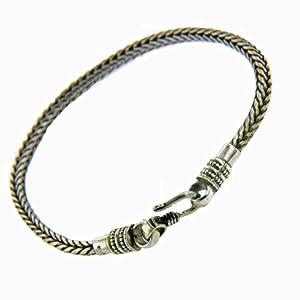 Franki Baker Mens Sterling Silver Snake Chain Bracelet 22cm86ins by Franki Baker