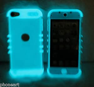 iPod Touch 5th Gen Cover Case Transparent Clear Glow Shock Resistant Hybrid by Phone Art