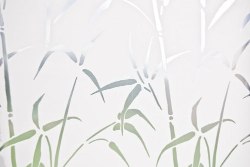 Brewster Home Fashions 99438 Bamboo Static Privacy Window Film- Sidelight Size - Pack of 2 by Brewster Home Fashions