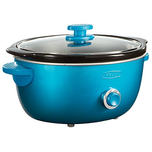 BELLA 13745 Dots Collection Slow Cooker, 6-Quart, Teal
